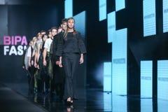 Bipa时尚 hr时装表演:节目Vrbanic,萨格勒布,克罗地亚 免版税库存图片