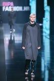 Bipa时尚 hr时装表演:Ivana Janjic,萨格勒布,克罗地亚 免版税库存照片