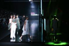Bipa时尚 hr时装表演:Morana Krklec,萨格勒布,克罗地亚 图库摄影
