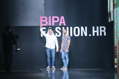 Bipa Fashion.hr fashion show: Elfs, Zagreb, Croatia. Royalty Free Stock Photos