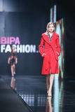 Bipa Fashion.hr fashion show: Elfs, Zagreb, Croatia. Royalty Free Stock Images