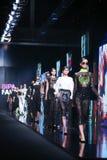 Bipa Fashion.hr fashion show: eNVy room, Zagreb, Croatia. Royalty Free Stock Photos