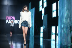 Bipa Fashion.hr fashion show: Robert Sever, Zagreb, Croatia. Royalty Free Stock Photography