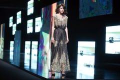 Bipa Fashion.hr fashion show: Robert Sever, Zagreb, Croatia. Royalty Free Stock Images