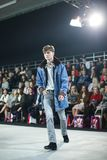 Bipa moda hr 2017: Robert Przecina, Zagreb, Chorwacja Zdjęcie Royalty Free