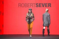 Bipa moda hr 2017: Robert Przecina, Zagreb, Chorwacja Zdjęcie Stock