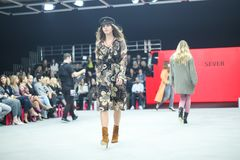 Bipa moda hr 2017: Robert Przecina, Zagreb, Chorwacja Fotografia Stock