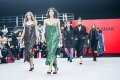 Bipa moda hr 2017: Robert Przecina, Zagreb, Chorwacja Obraz Royalty Free