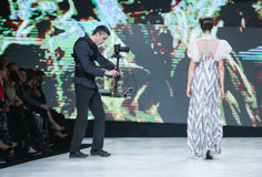Bipa-Mode Stunden-Modeschau 2017: Ivica Skoko, Zagreb, Kroatien Lizenzfreie Stockfotografie