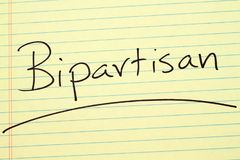 Bipartisan on a yellow legal pad Royalty Free Stock Photography