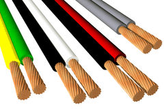 Biphasic cables (3D) Stock Images