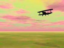 Biplan - 3D übertragen Stockfotografie