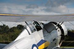 Biplan de gladiateur de Gloster de vintage Photographie stock libre de droits