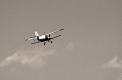 Biplan en ciel Photos libres de droits