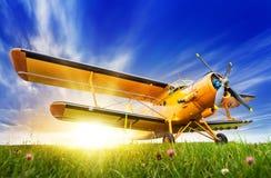 biplan historyczny Zdjęcie Royalty Free
