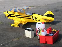 Biplan modèle Images stock