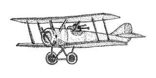 Biplan - odizolowywający na tle Zdjęcie Royalty Free