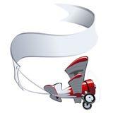 Biplane κινούμενων σχεδίων Στοκ φωτογραφία με δικαίωμα ελεύθερης χρήσης