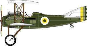 Biplane κινούμενων σχεδίων WW1 Στοκ Φωτογραφία