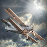 Biplane. Royalty Free Stock Photos