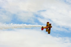 Biplane Act at Airshow Stock Image
