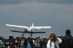 Biplane Antonov AN2 to airshow Stock Photo