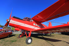 Biplane Antonov An-2. At the exhibition royalty free stock image