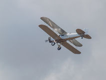 A Biplane in Flight Stock Photos