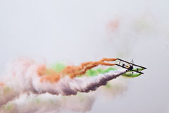 Biplane flying at Aero India Royalty Free Stock Photo