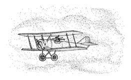 Biplane - isolated on background Royalty Free Stock Image