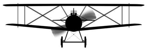 Biplane Silhouette Stock Photo