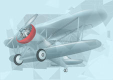 Biplane in the sky Royalty Free Stock Photography