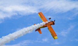 Biplane Solo Royalty Free Stock Images