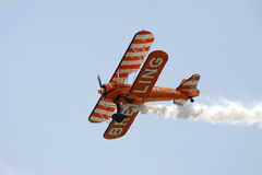 Biplane at Swansea air show. South Wales, UK, 9th July 2011 stock photos