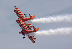 Biplane Wing walkers display Royalty Free Stock Photo