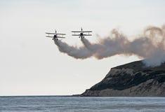 biplanewingwalkers Royaltyfri Bild