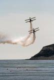 biplanewingwalkers Royaltyfri Fotografi