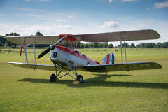 Biplano dell'annata DH82a Tiger Moth Fotografia Stock Libera da Diritti