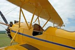 Biplano 1930 di WACO Taperwing dell'annata Fotografia Stock