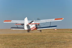 Biplano viejo del propulsor Imagenes de archivo