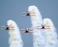 Biplanos de Stearman invertidos Fotos de archivo