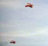 Biplanos velhos, Eastbourne Airshow Imagem de Stock