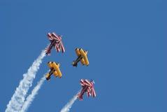 Biplans acrobatiques aériens de Pitts Image stock