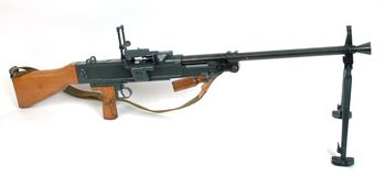 bipod枪设备媒体 免版税库存照片