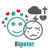 Bipolair wanordepictogram vector illustratie