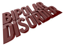 Bipolar disorder. 3d design. Bipolar disorder (trastorno bipolar in spanish Stock Photos