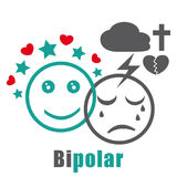 Bipolar disorder icon. Stock Photo