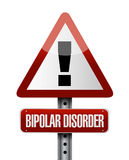 Bipolar disorder warning road sign illustration Royalty Free Stock Images