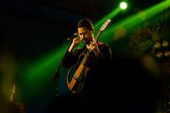 Bipul Chettri en de Reizende Band bij Hotel Annapurna op Satu Royalty-vrije Stock Fotografie