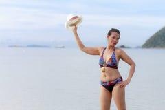 Biquini com símbolo 'sexy' do corpo das mulheres Fotos de Stock Royalty Free